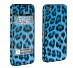 Apple iPhone 4 or 4s Full Body Vinyl Decal Sticker Protection Skin Blue Cheetah By Skinguardz
