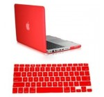 Dealgadgets Red Frosted Matte Surface Crystal Hard Shell Case for MacBook Pro 13″ A1278 Aluminum Unibody with Silicone Keyboard Cover Skin Stickers Protector Reviews