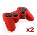eForCity Red Soft Silicone Skin Case (2 Pack) Compatible with Sony PS3 Controller Reviews
