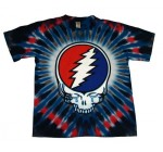 Grateful Dead Steal Your Tears Face Skull Psychedelic Tie Dye T-Shirt Tee