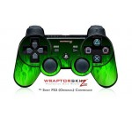 Sony PS3 Controller Decal Style Skin – Fire Green