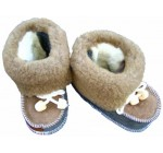 HANDMADE ORGANIC Winter Warm Genuine Sheepskin WOOL Fur Slippers / Booties / Shoes (Infant Toddler Kids Baby). FAST SHIPPING