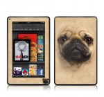 Pug Design Protective Decal Skin Sticker (High Gloss Coating) for Amazon Kindle Fire (7 inch Color Multi-Touch Display)