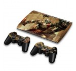 For Sony PlayStation 3 Super Slim CECH-4000 Skins Stickers Personalized Decals + 2 Controller Covers – PS3S4000-03