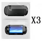 NukePak Bundle of 3 Crystal Clear Front & Back Screen Protector LCD for Sony PS Vita + NukePak Cable Tie