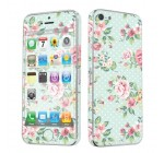 Apple iPhone 5 Full Body Vinyl Decal Protection Sticker Skin Mint Roses By Skinguardz