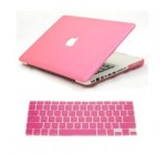 Dealgadgets Pink Frosted Matte Surface Crystal Hard Shell Case for MacBook Pro 13.3-inch A1278 Aluminum Unibody with Silicone Keyboard Cover Skin Stickers Protector