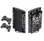 PS3 Super Slim 2012 Designer Sticker for the Sony Playstation System& Remote Controllers – Widow Maker Black and chrome Reviews