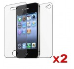 2x for iPhone 4 G Front+Back Screen Protector FULL BODY