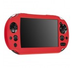 eForCity Protective Rubber Gel Sleeve Soft Silicone Skin Shell Case Cover compatible with Sony PlayStation Vita 2000 Controller, Red Reviews