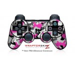 Sony PS3 Controller Decal Style Skin – Sexy Girl Silhouette Camo Hot Pink Fuschia – CONTROLLER NOT INCLUDED