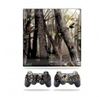 Protective Vinyl Skin Decal Cover for Sony Playstation 3 PS3 Slim Skins + 2 Controller Skins Sticker Tree Camo