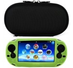 VG Black Durable Nylon Protective Gaming Case for Sony PlayStation Vita (PS Vita) + Green VG Silicone Skin Cover + SumacLife TM Wisdom Courage Wristband