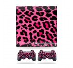 Protective Vinyl Skin Decal Cover for Sony Playstation 3 PS3 Slim Skins + 2 Controller Skins Sticker Pink Leopard Reviews