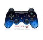 Sony PS3 Controller Decal Style Skin – Fire Blue