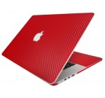 BodyGuardz Armor Carbon Fiber Full Body Ultra-Thin Stylish Scratch Protection for Apple MacBook Pro with Retina Display (2012) – Red (BZ-ACR5P-0612)