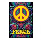 Peace Sign Poster Love Hippy Psychedelic Art 3073 Poster Print, 24×36