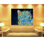 XC0993 Psychedelic art Magic cat HUGE GIANT WALL Print POSTER