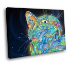 HC0993 Psychedelic art Magic cat 16×12 FRAMED CANVAS PRINT Reviews