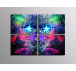 4HC0999 Psychedelic art Magic sculp 32×24 SECTIONAL FRAMED CANVAS Print