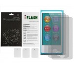 iFlash Bubble Free Screen Protector: Anti Glare edition – For Apple Nano 7th Generation – (3Pack) Retail Packaging
