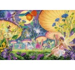 HUGE LAMINATED / ENCAPSULATED Fairy Ring Mushrooms Psychedelic POSTER measures 36 x 24 inches (91.5 x 61cm