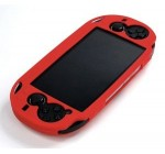 COSMOS ® Red Color Silicone bumper protection case cover for Playstation PS VITA & Cosmos Brand LCD Touch Screen Cleaning Cloth