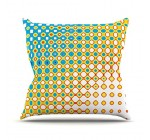 Kess InHouse Dawid Roc Psychedelic Art Throw Pillow, 16″ by 16″, Yellow Blue