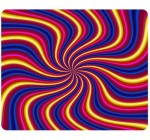 Psychedelic Trippy Artwork Traditional Art Snail Mousepad, Customized Rectangle Mouse pad