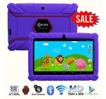 *Thanksgiving Day Special* Contixo Kids Safe 7″ Quad-Core Tablet 8GB, Bluetooth, Wi-Fi, Cameras, 20+ Free Games, HD Edition w/ Kids-Place Parental Control, Kid-Proof Case, 2015 Best Christmas Gift + Bonus Items (Purple)