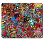VUTTOO Customized Rectangle Non-Slip Rubber Mousepad Gaming Mouse Pad Drawing Surreal Colorful Psychedelic Water Resistent Large Mousepad High Quality Gaming Pad Mouse Pads