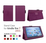 Elsse for Fire 7 2015 – Folio Case with Stand for Kindle Fire 7 (5th Generation, Sept 2015 Model) – Purple Reviews