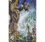 Fairy Falls Dolphins Fairies Psychedelic Art Paper Poster Measures 36 x 24 inches (91.5 x 61 cm)
