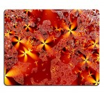 Liili Mouse Pad Natural Rubber Mousepad IMAGE ID: 5752337 psychedelic red sky with yellow orange stars