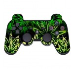 GameXcel ® Sony PS3 Leather Texture Controller Skin – Play Station 3 Joystick Decal – Custom Playstation 3 Remote Vinyl Sticker – Weeds Black [ Controller Not Included ]
