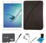 Samsung Galaxy Tab S2 8.0-inch Wi-Fi Tablet (White/32GB) 64GB MicroSD Card Bundle includes Galaxy Tab, Memory Card, Stylus, Noise Isolation Headphones, Protective Tablet Sleeve and Cleaning Kit