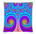 Abstract Colorful Trippy Mushroom Psychedelic Art Cushion Case Pillow Case Zippered Pillowcase Pillow Cover Square 18 X 18 Inch (Twin Sides)