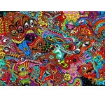 Psychedelic Art Fabric Cloth Rolled Wall Poster Print — Size: (36″ x 24″ / 20″ x 13″)