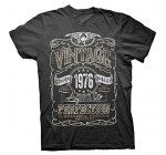 Vintage Aged To Perfection 1976 – Distressed Print – 40th Birthday Gift T-shirt Reviews