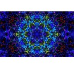 Symmetry Fractal Digital Art Abstract Psychedelic Poster Home Decor