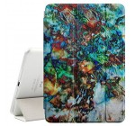 [ MagiX ] Apple iPad Air 1 & 2 – Smart Cover with Auto Sleep/Wake [ Art Painting Floral Psychedelic ]
