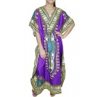 Womens Gorgeous Full Length Printed Traditional Style Kaftan Indian Summer Dress
