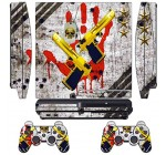 Skin Sticker for PS3 PlayStation 3 DualShock 3 Decals Custom Mod Cover Cases Decal Modding Game Sixaxis Vinyl Skins for Sony Play Station 3 Slim Console and 2 Wireless Remote Controllers – Ghost ops