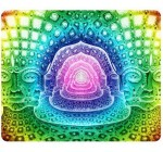 Psychedelic Alex Grey Trippy Artwork Traditional Art Snail Mouse Pad
