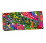 """KESS InHouse Frederic Levy-Hadida """"Psychedelic Garden"""" Office Desk Mat, Blotter, Pad, Mousepad, 13 x 26-Inches"""