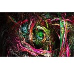 Psychedelic Trippy Art Fabric Cloth Rolled Wall Poster Print — Size: (40″ x 24″ / 21″ x 13″)