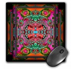 3dRose LLC 8 X 8 X 0.25 Inches Psychedelic Meditation New Age Fractal Multicolored Mouse Pad (mp_23496_1)