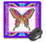 3dRose LLC 8 x 8 x 0.25 Inches Psychedelic Butterfly Mouse Pad (mp_14923_1) Reviews