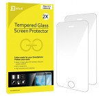 iPhone SE Screen Protector, JETech 2-Pack iPhone SE 5S 5C 5 Premium Tempered Glass Screen Protector – 0314