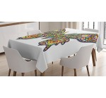 Butterflies Decoration Tablecloth by Ambesonne, Butterfly Psychedelic Art Design Wildlife Eyes Pattern Artistic Fashionable , Dining Room Kitchen Rectangular Table Cover, 60 X 90 Inches